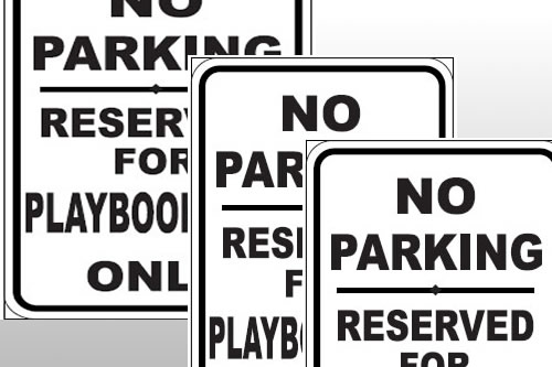 Parking Signs Custom Name