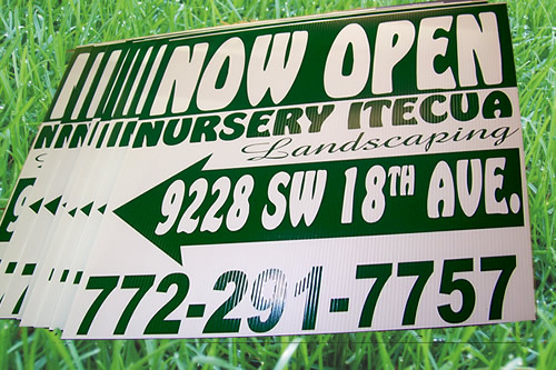 Now open Signs